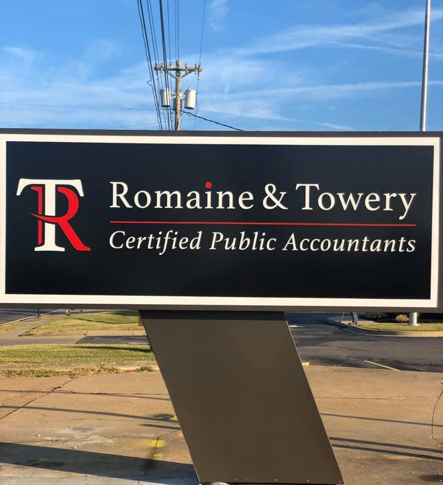 romaine-and-towery-sign